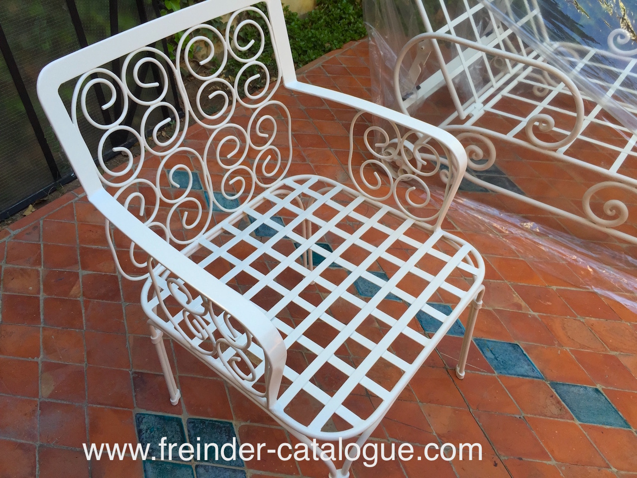 chaise en fer forge design maroc marrakech